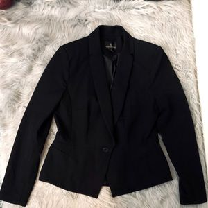 Worthington Black Suit Jacket Blazer Size 12 (M)